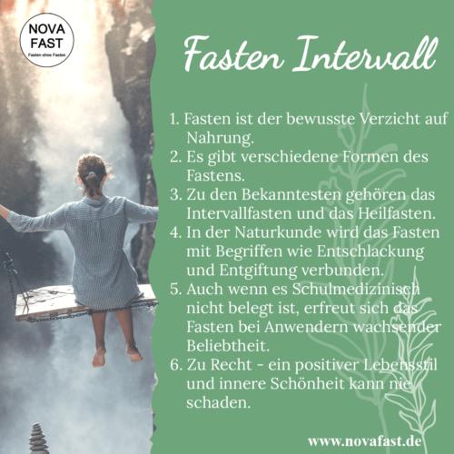 Fasten-Intervall